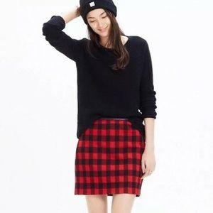 Madewell Gamine mini skirt buffalo check 00
